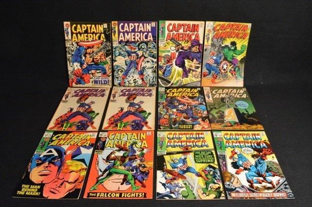 (12) Captain America Marvel Comics