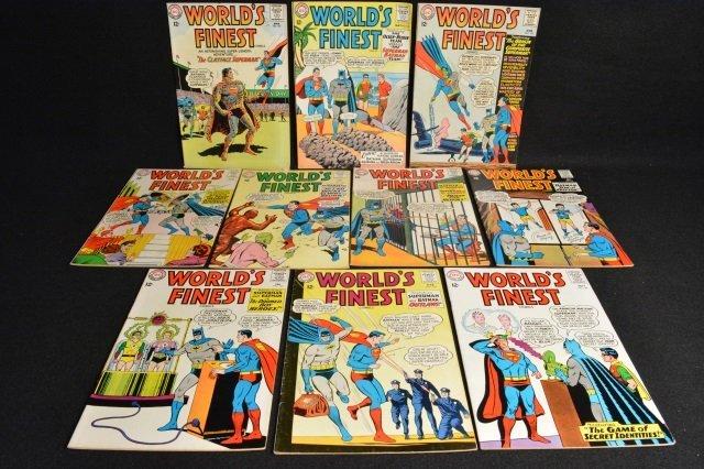 (10) World's Finest DC Comics Silver Age