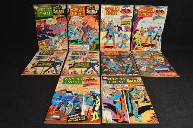 (10) World's Finest D.C. Comics Silver Age