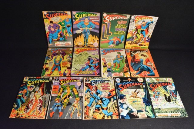 (14) Superman DC Comics Silver & Bronze Age