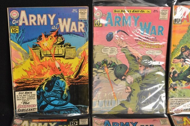 (12) Our Army at War, DC Comics Silver Age - 2