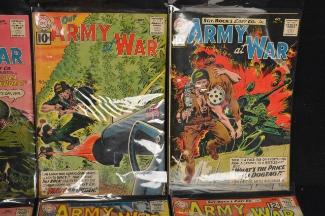 (12) Our Army at War, DC Comics Silver Age - 3