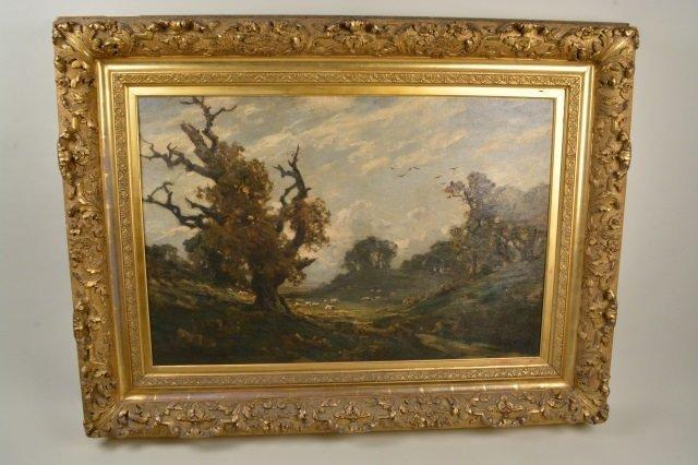 19th C. British landscape / Jose Weiss (1859-1919) oil