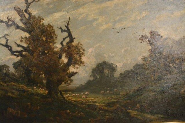 19th C. British landscape / Jose Weiss (1859-1919) oil - 2