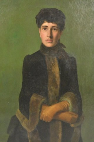 19th c. Portrait of a Woman, oil on canvas - 2