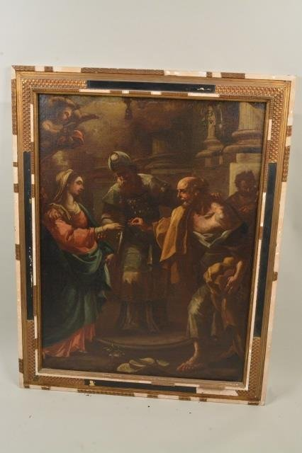 Roman Marriage Oil Painting on Board
