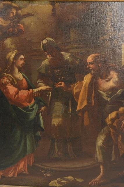 Roman Marriage Oil Painting on Board - 3