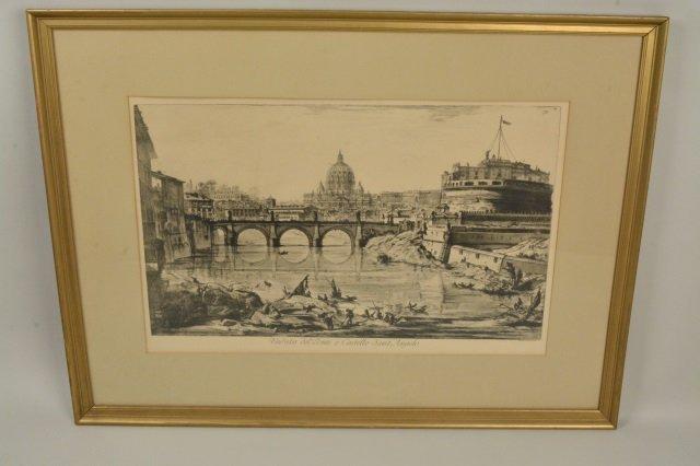 Veduta Del Ponte e Castello Sant' Angelo Art