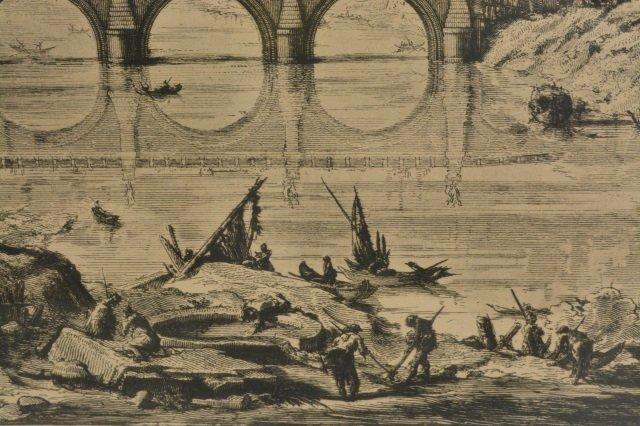 Veduta Del Ponte e Castello Sant' Angelo Art - 6