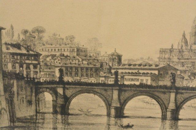 Veduta Del Ponte e Castello Sant' Angelo Art - 7