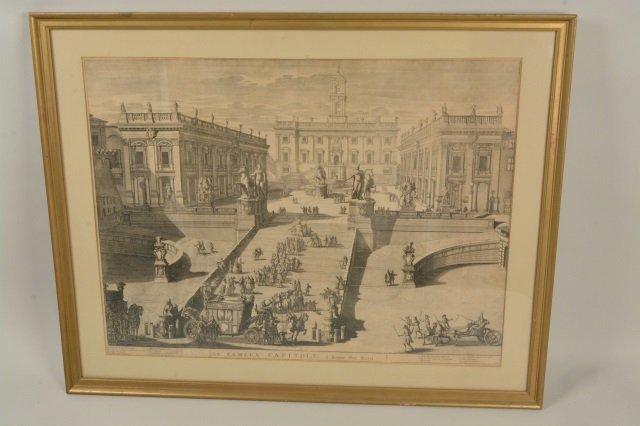 Domenico de Rossi Capitoline Hill Framed Art