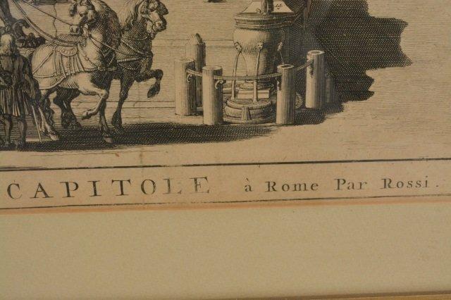 Domenico de Rossi Capitoline Hill Framed Art - 2
