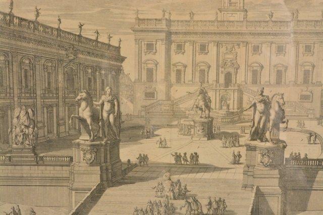 Domenico de Rossi Capitoline Hill Framed Art - 3