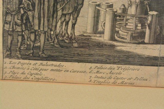 Domenico de Rossi Capitoline Hill Framed Art - 6
