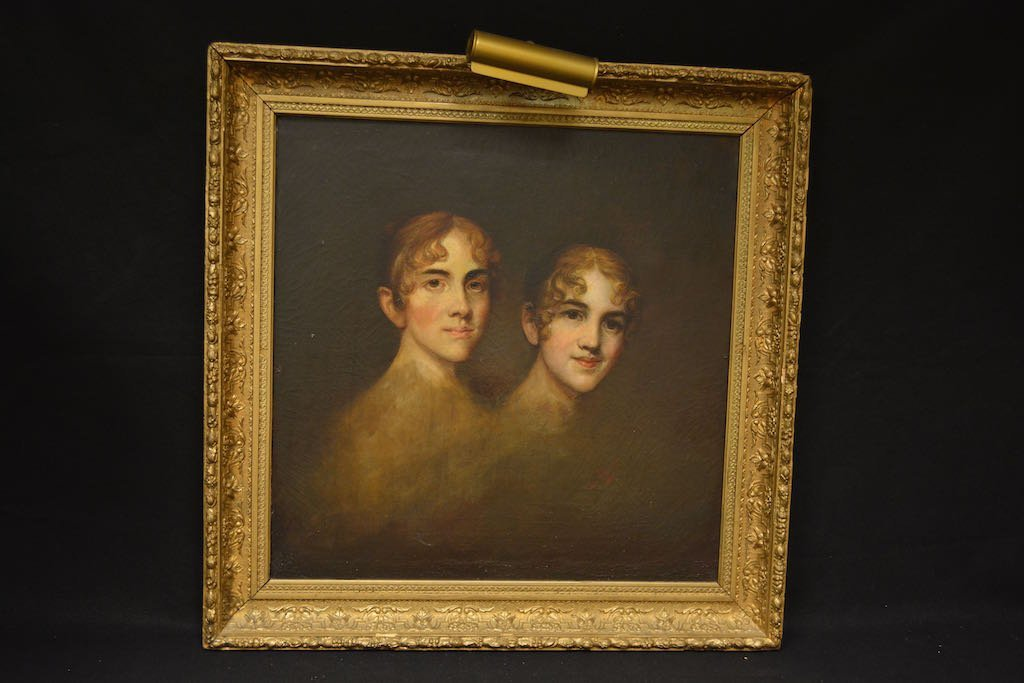 French 19th Century Sister Ballerinas Oil Painting SLR
