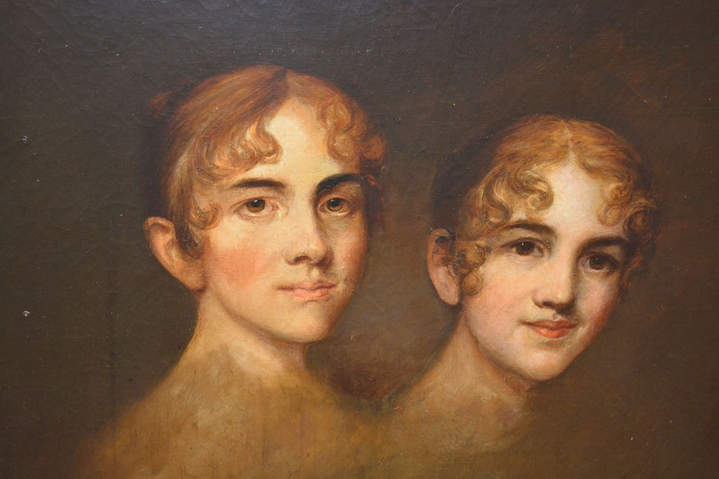 French 19th Century Sister Ballerinas Oil Painting SLR - 2