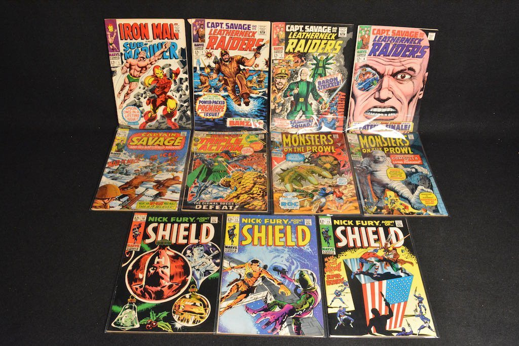 (11) Marvel Comic Books Silver Age - Mixed Lot