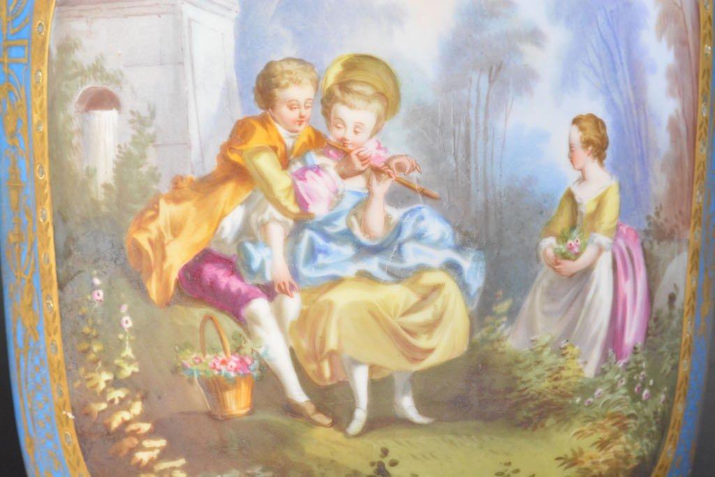 Victorian Hand Painted Jardiniere - 2