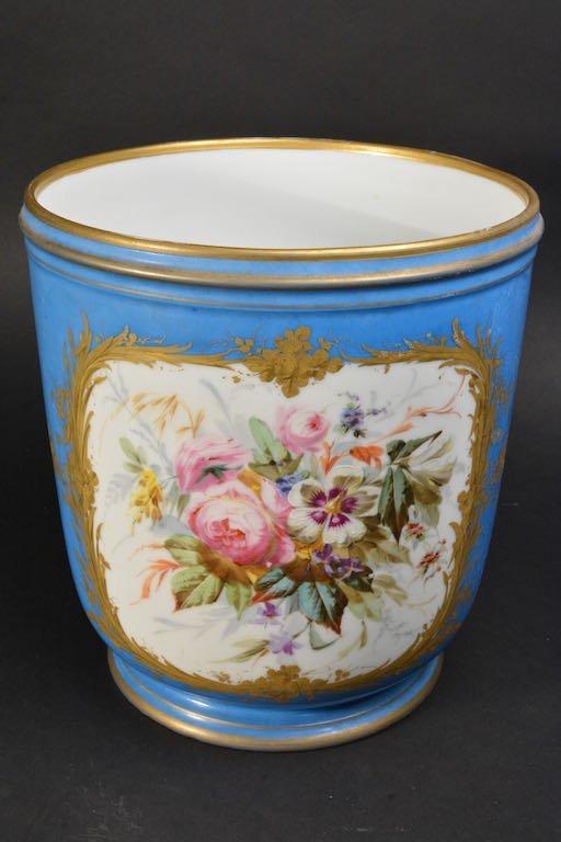 Victorian Hand Painted Jardiniere - 3