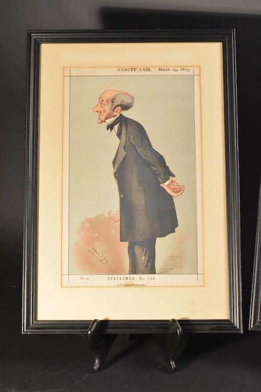 (2) Vanity Fair British Magazine Framed Caricatures - 2