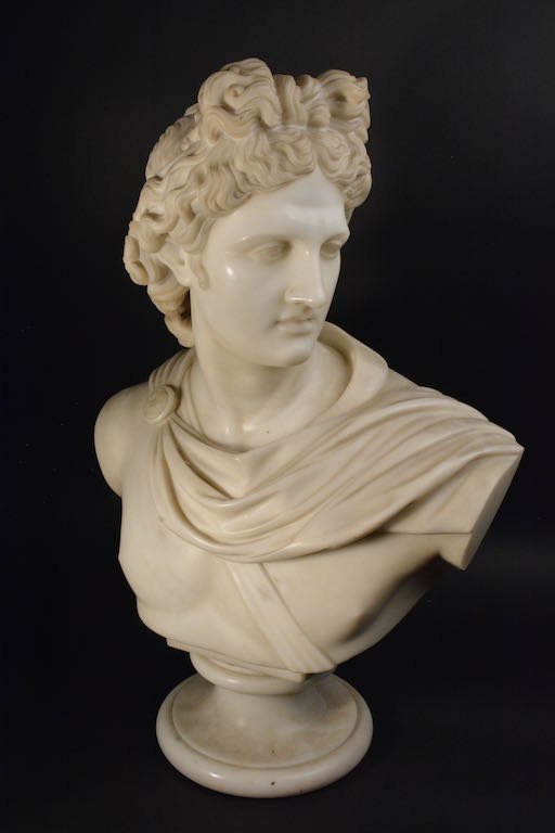 Victorian Marble Bust, Mid-19th Century