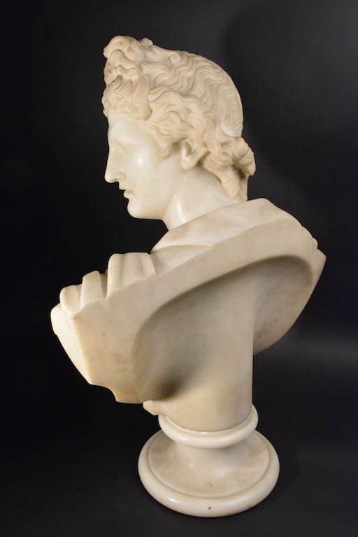 Victorian Marble Bust, Mid-19th Century - 5
