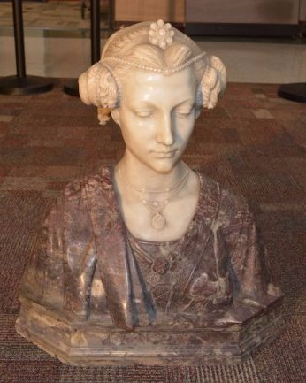 Italian Carved Marble Bust Signed Piccaron