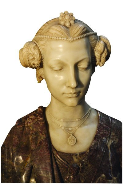Italian Carved Marble Bust Signed Piccaron - 2