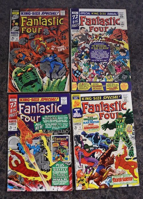 (4) Fantastic Four King Size Annual Marvel Comics
