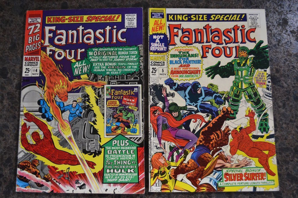 (4) Fantastic Four King Size Annual Marvel Comics - 3