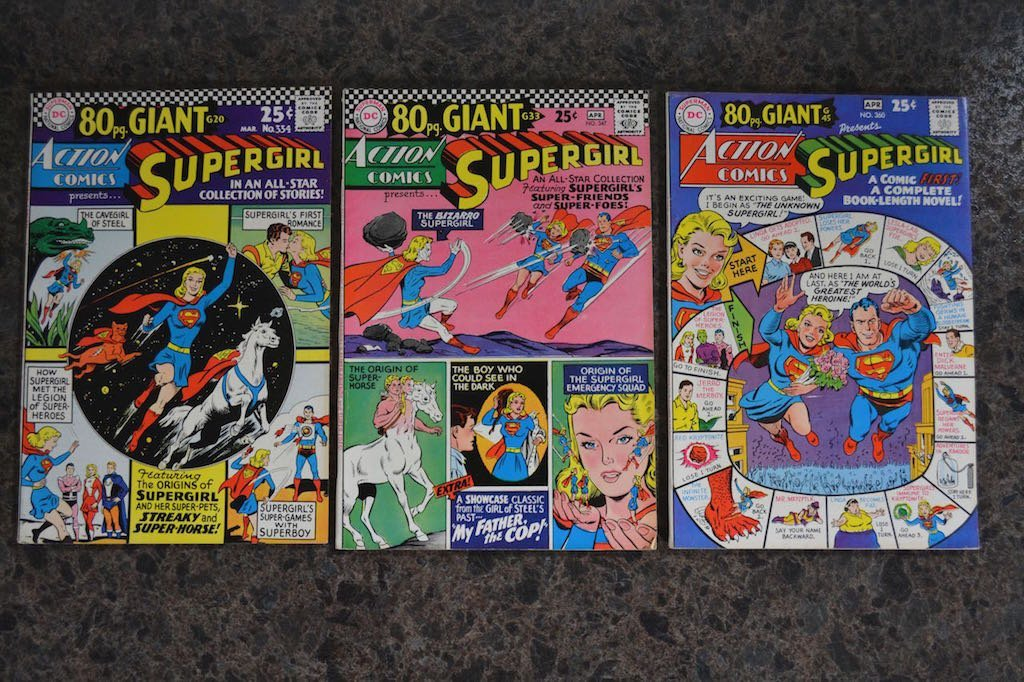 (3) Action Comics Supergirl 80 pg. Giant