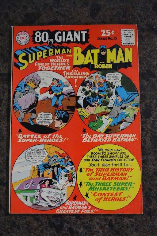 80 pg. Giant Superman and Batman World's Finest No. 15