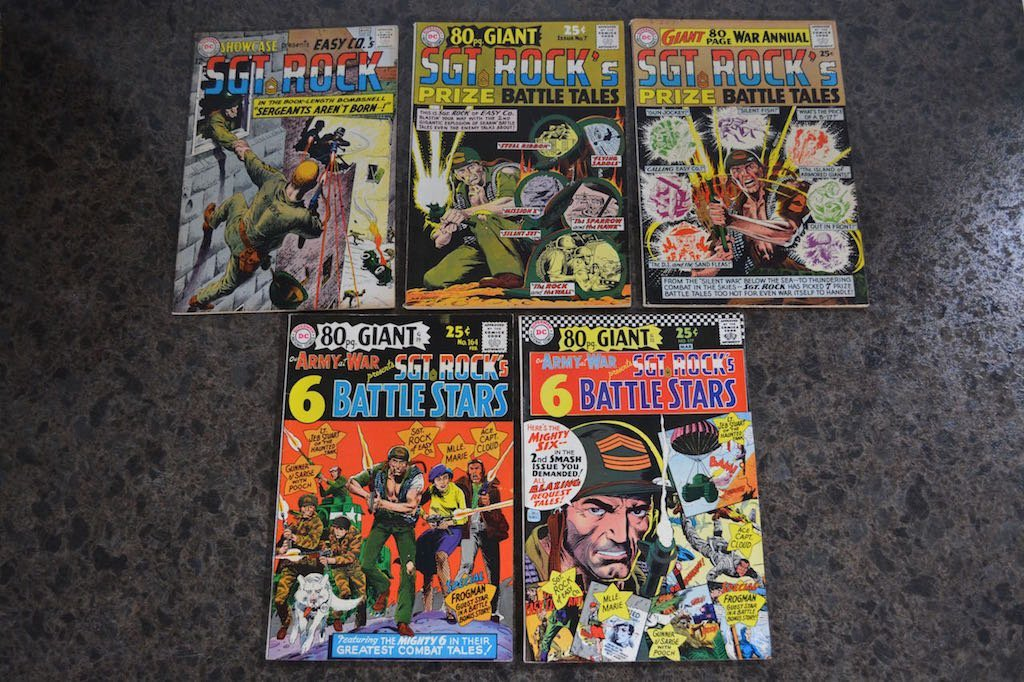 (5) Sgt. Rock D.C. Comic Books