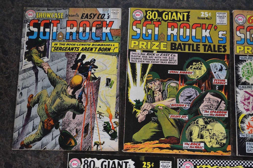 (5) Sgt. Rock D.C. Comic Books - 2