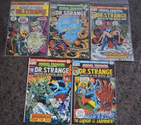 (5) Marvel Premiere Featuring Dr. Stange Comic Books