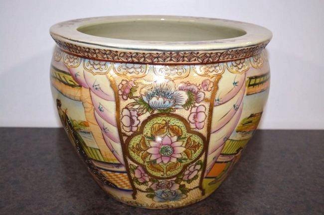 Oriental Design Large Jardiniere - 2