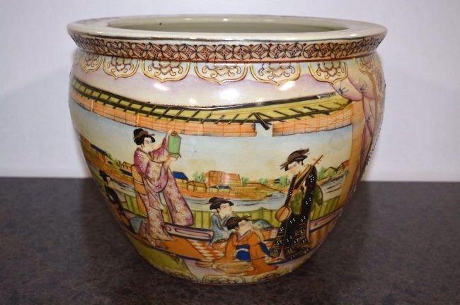 Oriental Design Large Jardiniere - 3