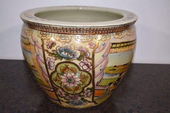 Oriental Design Large Jardiniere - 4
