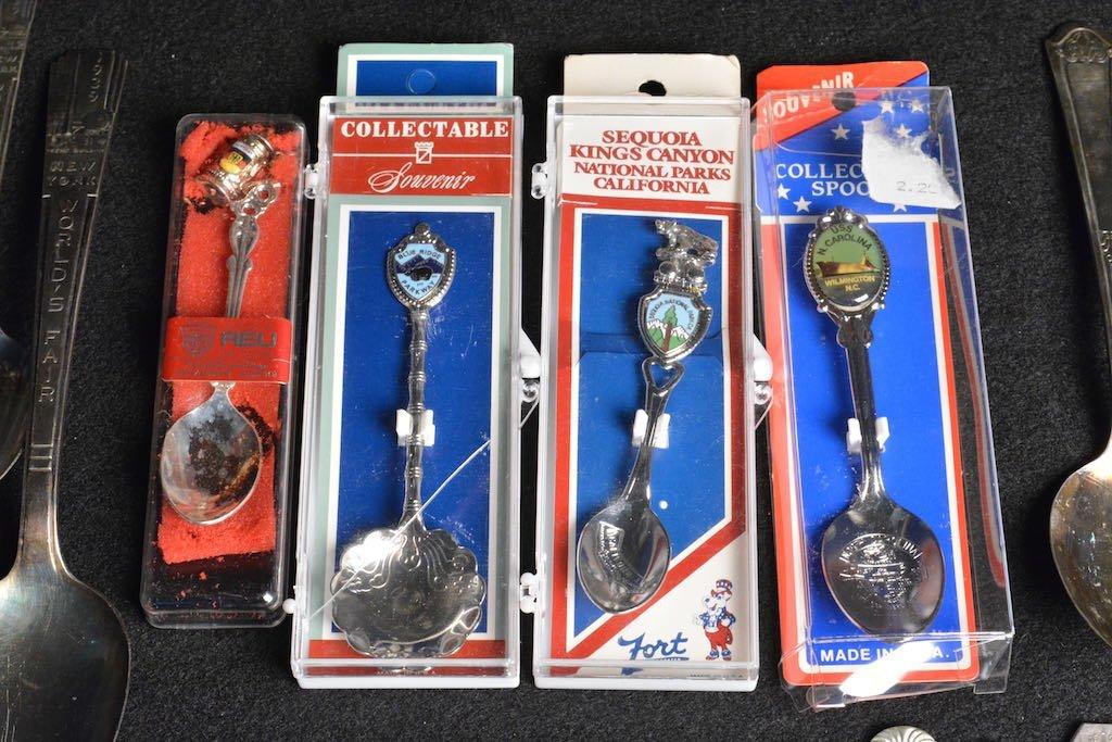 1939 N.Y. World's Fair Spoons, Souvenir & Silver Plated - 2