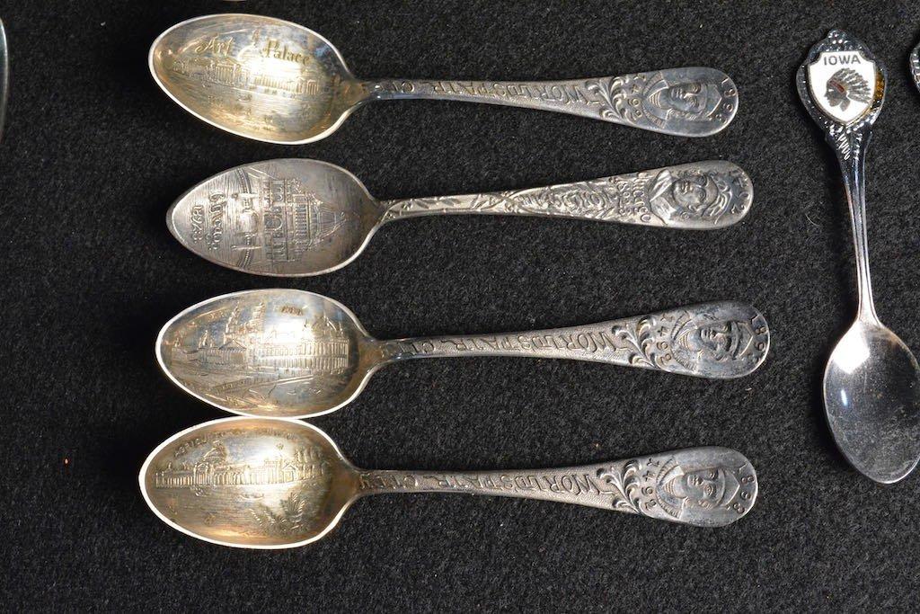 1939 N.Y. World's Fair Spoons, Souvenir & Silver Plated - 4