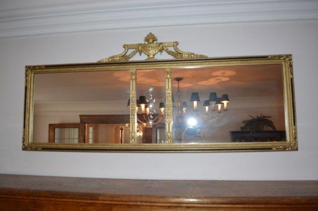 Greek Key Design Gilt Mantle Mirror