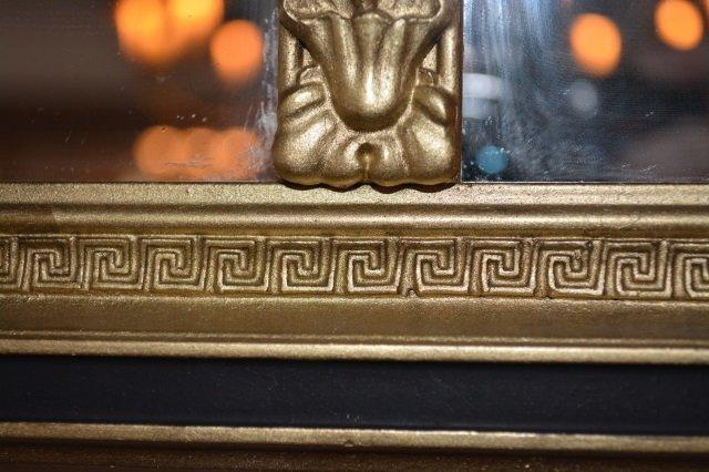 Greek Key Design Gilt Mantle Mirror - 3