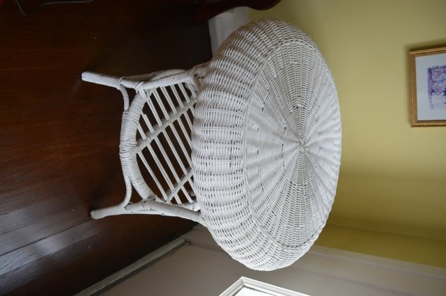 (6) Piece White Wicker Patio Furntiure Set - 4