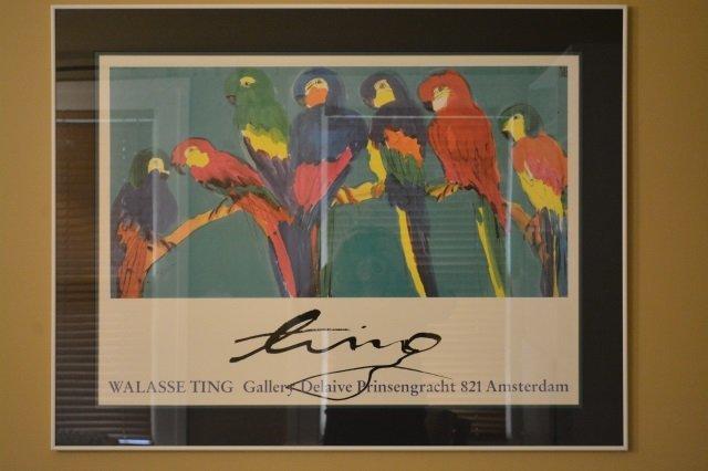Framed Art Print Walasse Ting Gallery - Parrots