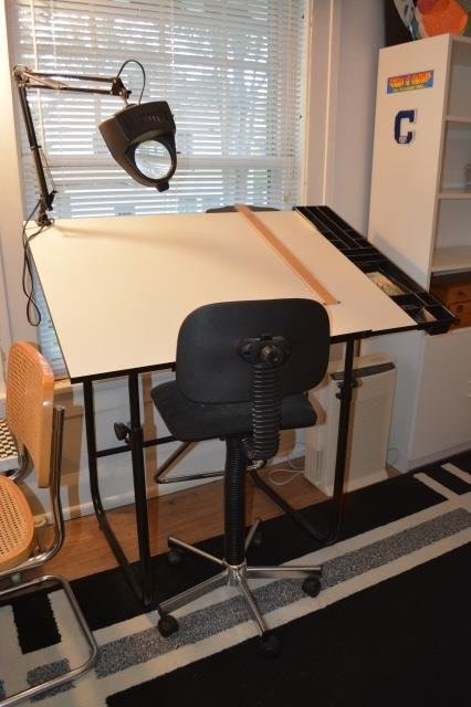 Drafting Table W /Chair & Light
