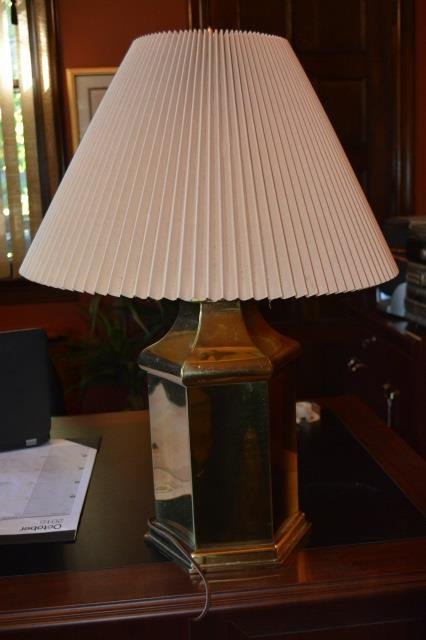 (2) Brass Table Lamps
