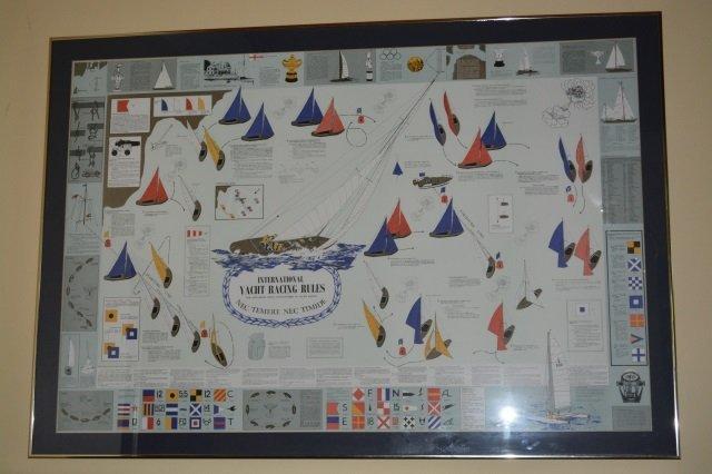 International Yacht Racing Rules Framed Art Print