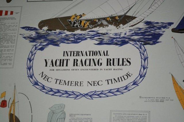 International Yacht Racing Rules Framed Art Print - 3
