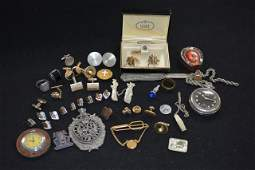 Lot of Mens Jewelry and Collectibles