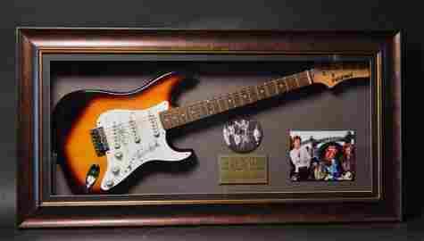 Rolling Stones Mick Jagger & Richards Signed Guitar